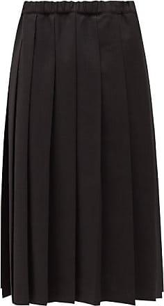 Comme Des Garçons Comme Des Garçons Comme Des Garçons - Knife-pleated Crépe Midi Skirt - Womens - Black