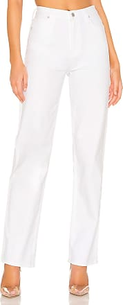 Hudson Faye High Rise Straight in Crisp White