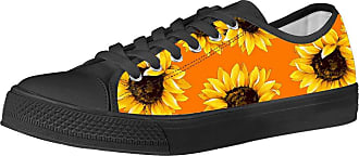 Coloranimal Spring&Autumn Vulcanize Shoes for Women Sport Gym Ladies Lace Up Footwear Korean Ourdoor Low-top Canvas Casual Flats DailyShoes-Sunflower Novelty EU37