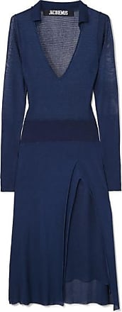 Jacquemus Notte Knitted Dress - Navy