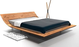Mebloj Design Lit contemporain en chêne massif LEBRON Couchage - 140 x 200