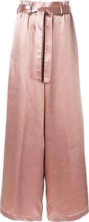 Osman Calça pantalona com cinto - Rosa