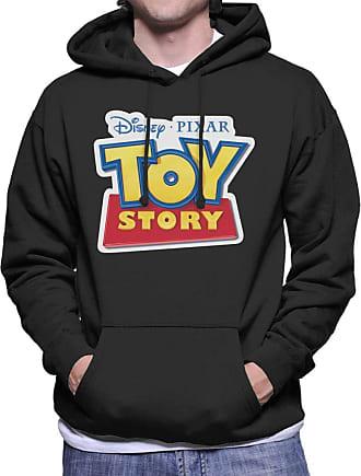 Disney Classic Pixar Toy Story Logo Mens Hooded Sweatshirt Black