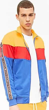21 Men Rebel Minds Track Jacket at Forever 21 Yellow/blue