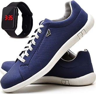 Juilli Sapatênis Sapato Casual Com Relógio LED Masculino JUILLI 900DB Tamanho:41;cor:Azul;gênero:Masculino
