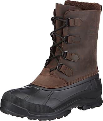 kamik ALBORG, Mens Warm lined Snow boots, Brown (Gau_Gaucho Brown), 12 UK (46 EU)