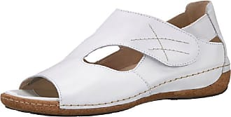 Waldläufer Womens Heliett 342004172-001 Ranger Open-Toe Leather Sandal in White (4.5 UK, White)