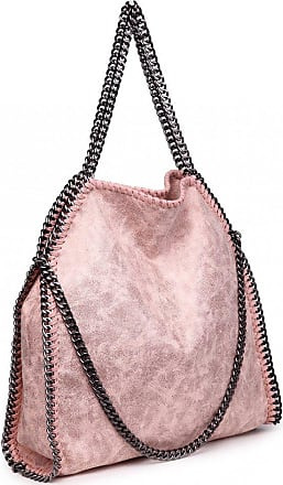 Quirk Metallic Effect Chain Tote Bag - Nude