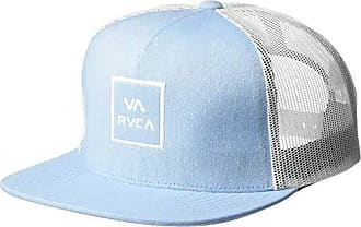 141120650778d6 Rvca Mens VA All The Way MESH Back Trucker HAT, Heather Blue, One Size