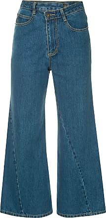 Ground-Zero Calça jeans cropped - Azul