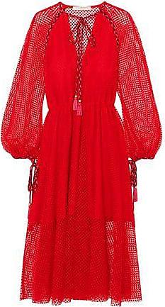 Philosophy di Lorenzo Serafini Philosophy Di Lorenzo Serafini Woman Macramé Lace Midi Dress Red Size 38