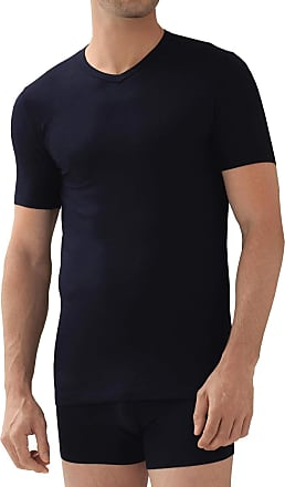 Zimmerli Pureness Micromodal V-Neck Shirt - Blue - XXL
