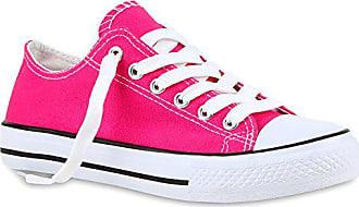 471a4a5412a3c4 Stiefelparadies Sportliche Damen Sneakers Metallic Schnürer Sneaker Low  Spitze Turn Blumen Denim Stoff Flats Schuhe 118960