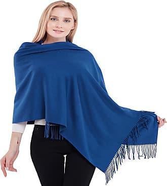 CJ Apparel Royal Blue Thick Solid Colour Design Cotton Blend Shawl Seconds Scarf Wrap Stole Throw Pashmina CJ Apparel NEW