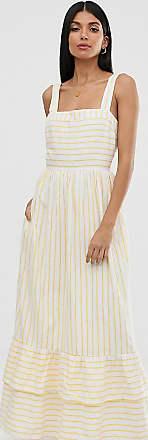 Y.A.S. Tall stripe tiered maxi dress-Multi