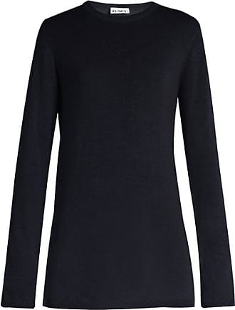 Raey Long-line Fine-knit Cashmere Sweater - Womens - Navy