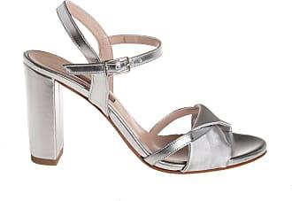 Albano sandalo pelle e raso, 35 / argento