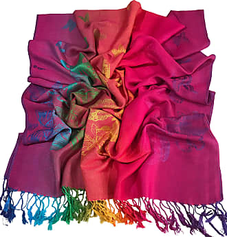 CJ Apparel Hot Pink Butterfly Design Shawl Seconds Scarf Wrap Stole Throw Pashmina NEW