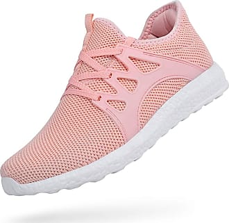 Zocavia Men Women Trainers Lightweight Running Sports Shoes Outdoor Non Slip Walking Gym Fitness Athletic Shoes Pink