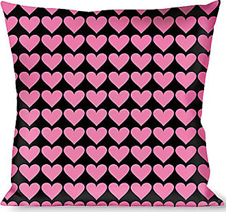 Buckle Down Pillow Decorative Throw Mini Hearts Black Pink