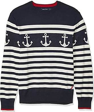 Nautica Mens Tonal Striped Pullover Sweater