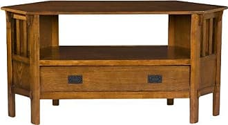 Southern Enterprises Carson Oak Wood Corner Media Stand - 46Television Stand - Drawer w/ Shelf