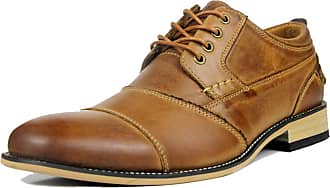 MGM-Joymod Mens Classic Stitching Lace-up Oxford Casual Vintage Business Work Office Brogue Shoes (Brown) 10 M UK