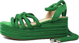 Damannu Shoes Sandália Thaila - Cor: Verde - Tamanho: 35