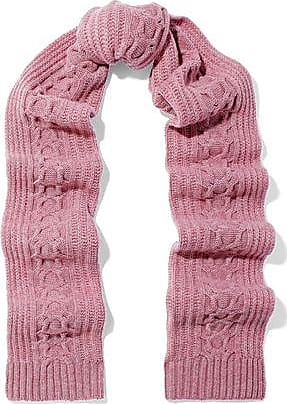 N.Peal N.peal Woman Cable-knit Cashmere Scarf Pink Size