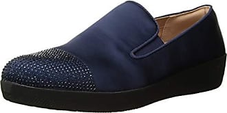 ffcdddab8 FitFlop Womens Superskate Crystal-Toe Loafer Flat Midnight Navy 6.5 M US