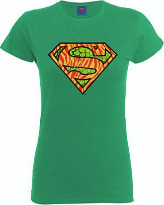 Womens T-Shirt Col Ras du Cou Manches Courtes Femme Logo DC Superman