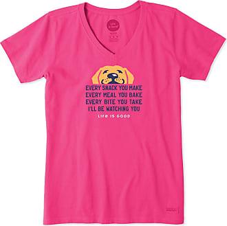 Life is good Womens Ill Be Watching You Crusher Vee XXXL Fiesta Pink