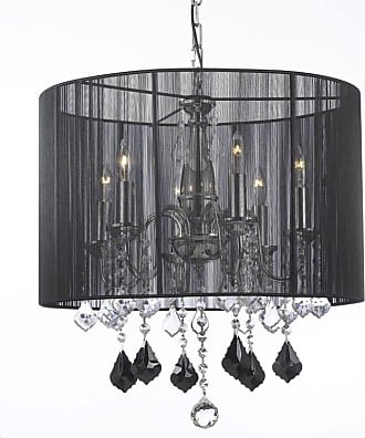 Gallery T22-1531 6 Light Single 19 Wide Chandelier with Crystal