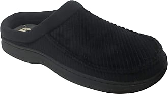 Padders CHARLES Mens Microsuede Wide G Fit Touch Close Memory Foam Slippers Navy