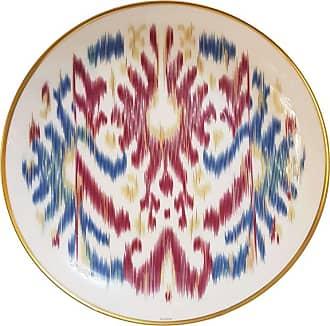 Hermès Porcelain voyage En Ikat Saphire Dessert Plate For Two, France