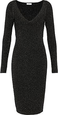 A.L.C. A.l.c. Woman Arvida Metallic Ribbed Wool-blend Dress Black Size L