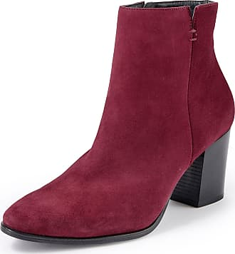Paul Green Wonderfully soft ankle boots a block heel Paul Green red