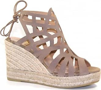 Kanna Ines High Full Front Wedge In Taupe - 36