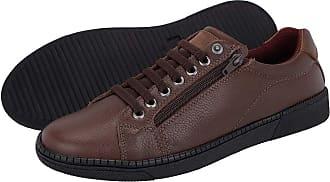 Di Lopes Shoes Sapatênis Masculino 100% em Couro (37, Preto)