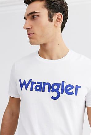 Wrangler T-shirt con logo bianca-Bianco