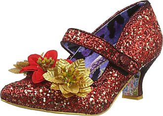 Irregular Choice Womens Jolly Holly Mary Janes, Red (Red/Gold A), 6.5 (40 EU)