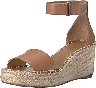Franco Sarto Womens Clemens Espadrille Wedge Sandal tan 5 M US