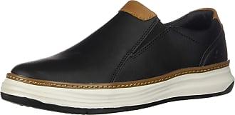 Skechers Moreno Nector Mens Slip On Leather Loafers/Shoes Black Size: 9.5 UK