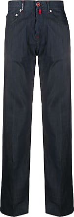 Kiton checked straight-leg trousers - Blue