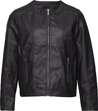 Zizzi Imitated Leather Jacket Läderjacka Skinnjacka Svart Zizzi
