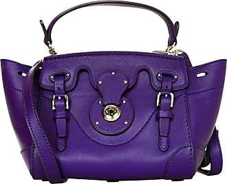 f3e5463beb Ralph Lauren Purple Leather Mini Rickie Crossbody Bag W. Dust Bag