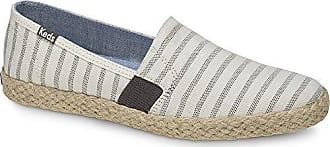 Keds Womens Chillax a-Line Stripe/Jute Sneaker, Cream, 5 M US