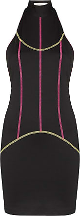 Kirin contrast-piping mini dress - Black