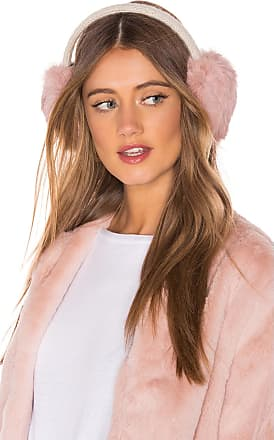 Hat Attack Knit Rabbit Earmuffs in Pink