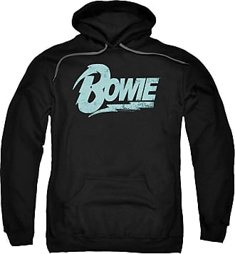 Popfunk David Bowie Logo Unisex Adult Pull-Over Hoodie for Men and Women Black